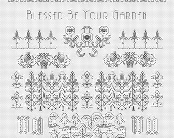 Cross Stitch Pattern - Elizabethan Blackwork