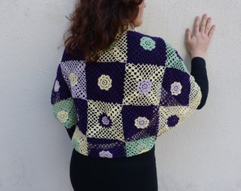 Set Crochet Circle vest and shawl