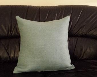Burlap Cushion cover / Light blue