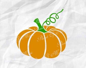 Pumpkin Svg, Halloween Svg, Fall Svg, Pumpkin Cutting File, Thanksgiving SVG, Pumpkin DXF, Cricut File, Silhouette Halloween DXF