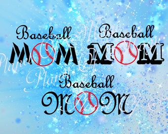 Baseball Mom Svg File, Cutting SVG file, Mom Svg File, Cricut Digital File, SVG Cutting Design, Silhouette Sport Dxf
