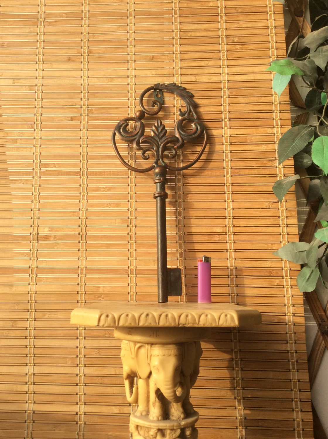 Large Metal Key Wall D Cor Wall Decor Vintage Skeleton Key