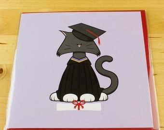 Exams/Graduation Cat Card