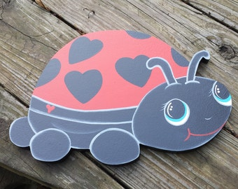 Garden Lady Bug Spring Summer Yard Art Lawn Decoration--8 Colors to choose from