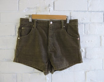 MINKPINK Corduroy Olive Green Shorts