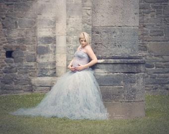 Diseã dress - Maxi maternity tutu dedicated to pregnancy outside studio photography