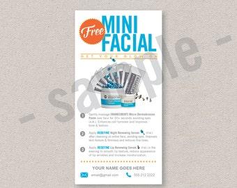 sample cards // sample packs // free mini facial // Rodan+Fields inspired // editable digital file // INSTANT DOWNLOAD