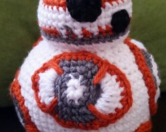 BB8 Stuffed Toy/ Star wars stuffed toy/ bb8 toy/ Star wars toy/ Star wars amigurumi/ bb8 amigurumi