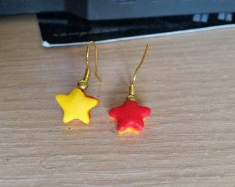 Earrings star bicolor
