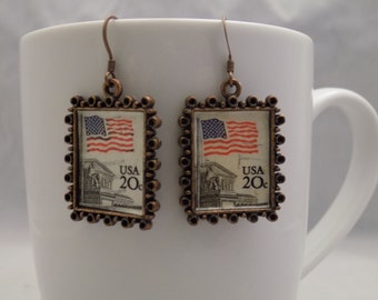 United States Stamp Earrings