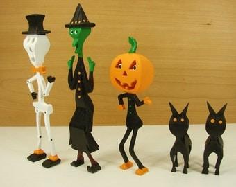 3-D Scroll Saw Halloween Figures