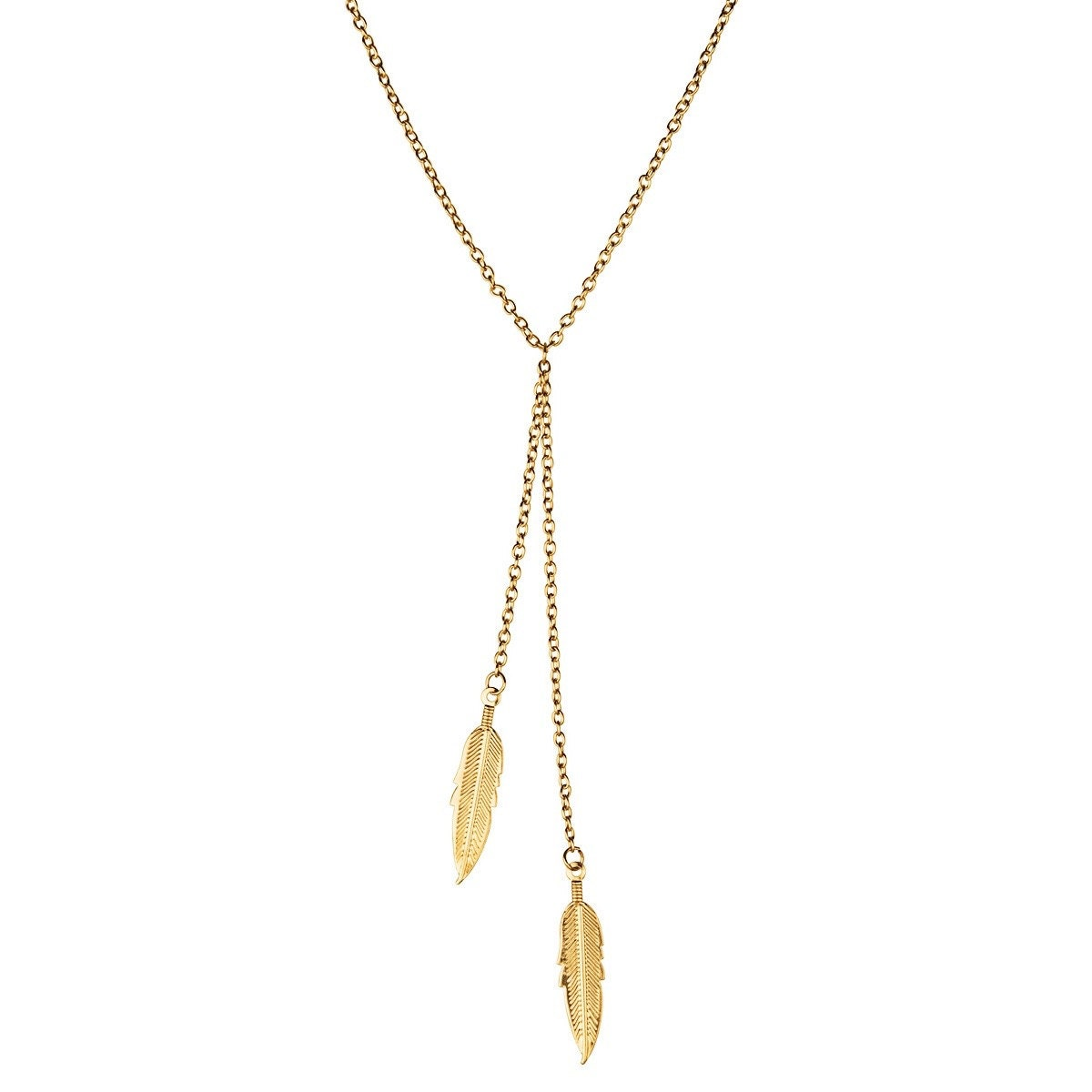 feather lariat gold necklace feather lariat gold