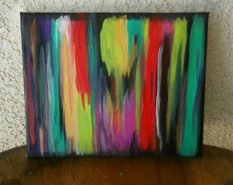 Wanderlust ~ Original Abstract, Trippy, Colorful Art, Stretched Canvas, Home Decor