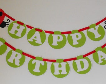 Little Lady Bug Birthday Banner