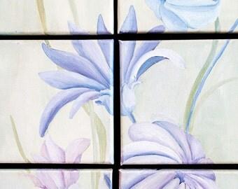 Floral fantasy in blue