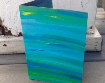 "Gorgeous ""Color Blur"" Reversible Greeting/Art Card"