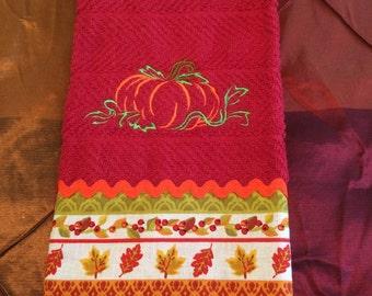 Fall Pumpkin Kitchen Towel