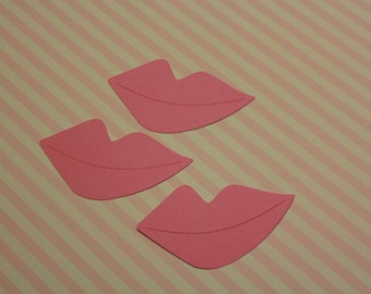 25 Pink Photo Prop Lips