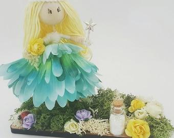 Fairy doll in fairy garden, fairy door, Flower Fairy, gift for her, fairy keepsake, fairy decoration, fairy doll