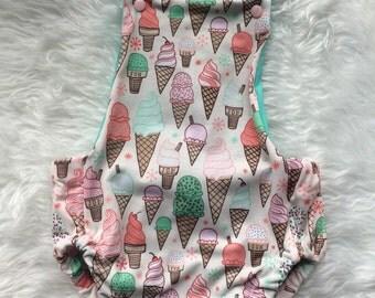Ice cream knit summer romper