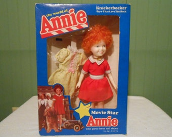 1982 Movie Star Annie by Knickerbocker