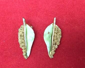 Clip On Earrings, Vintage Clip-On Earrings, BSK Clip-On Earrings,  BSK Earrings, Vintage BSK, Lightweight Clip-Ons Earrings