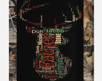 Personalized In Memory Camo Deer Hunting Print (Canvas or Metal)