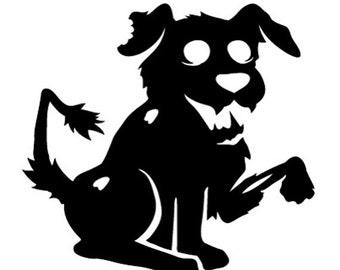 Zombie Dog Vinyl Decal