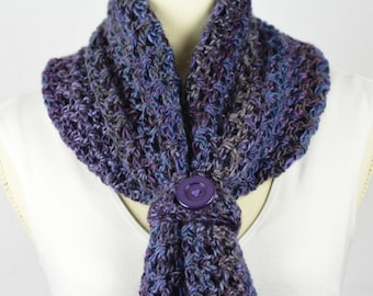Crochet Shawlette/Scarf Purple
