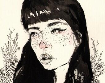 She is Spring - Art Print