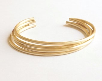 2mm Round Bracelet w Rounded Ends Thin Cuff Bracelet Brass Delicate Jewelry Stacking Bracelet Minimalist Sterling Silver cuff bracelet 048