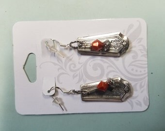silver spoon earrings