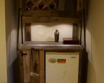 Rustic Wine and Liquor Cabinet