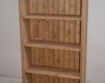 Hand Made Hand Waxed Solid Pine DVD Bookcase