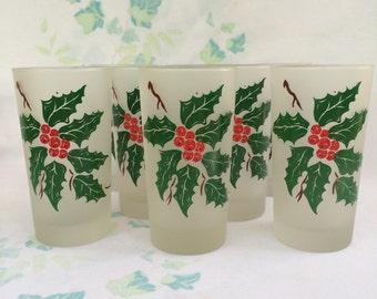 Set of 8 Christmas Glasses