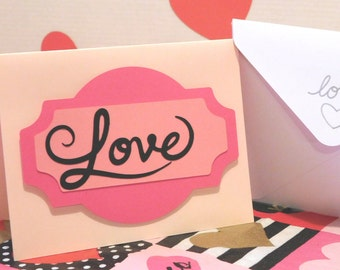 Love Card, Blank card, greeting card, Valentine's day, Anniversary