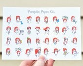 Mini Terras, planner stickers for use with erin condren planners, decorative planner stickers, activities, 32 functional stickers, PPC99