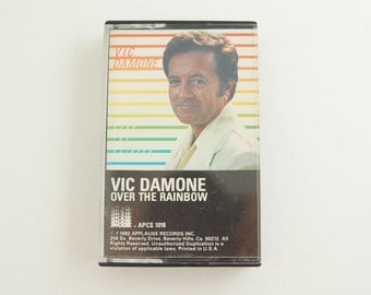 VIC DAMONE Over The Rainbow 1982 Vintage Music Cassette Tape