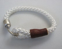 White Paracord Sailors Bracelet