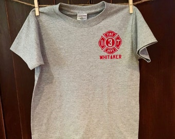 Toddler/Youth Custom Fire Department Shirt