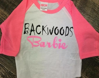 Backwoods Barbie, custom shirt, barbie shirt, girls clotges, girls shirt