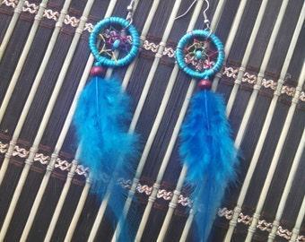 Dream Catcher Blue earrings