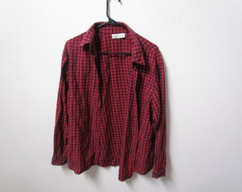 Grunge Red and Black Flannel