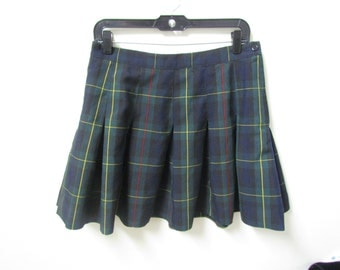 Plaid Pleated School Skirt