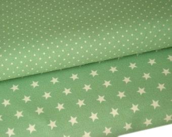 BW-Jersey fabric package mint dots/stars