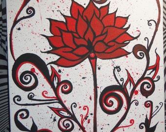 Red & Black Dahlia
