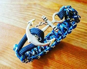 Blue Nautical Anchor Paracord Bracelet