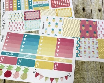 PineApple Planner Stickers - Weekly Planner Sticker Set Erin Condren Life Planner - Happy Planner - Functional stickers - Full Set