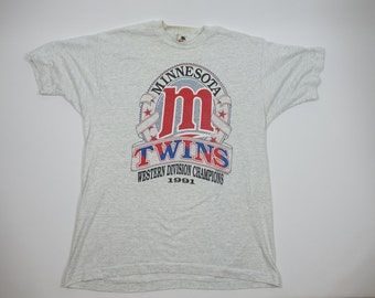 1991 Minnesota Twins MLB Vintage Baseball Tshirt - 90s Vintage Sports MLB Tee - XL