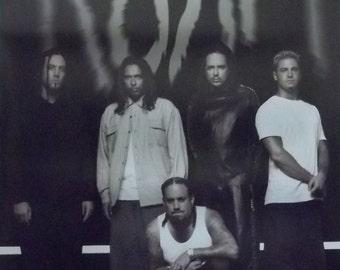 Korn 23x35 Black And White Group Poster